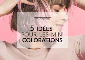Utilisation des formats mini coloration cheveux