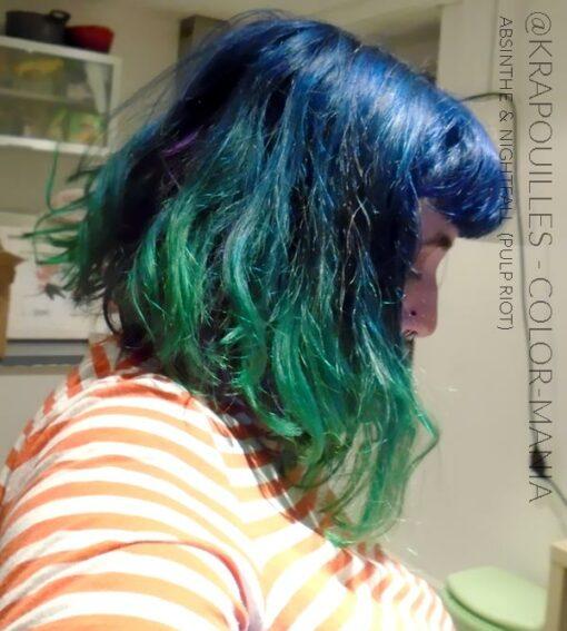 Merci @krapouilles :) Coloration Cheveux Vert Absinthe - Pulp Riot | Color-Mania