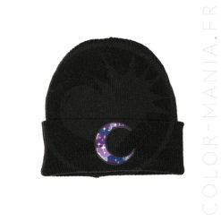 Galactic Dark Purple Beanie Moon | Color-Mania.fr