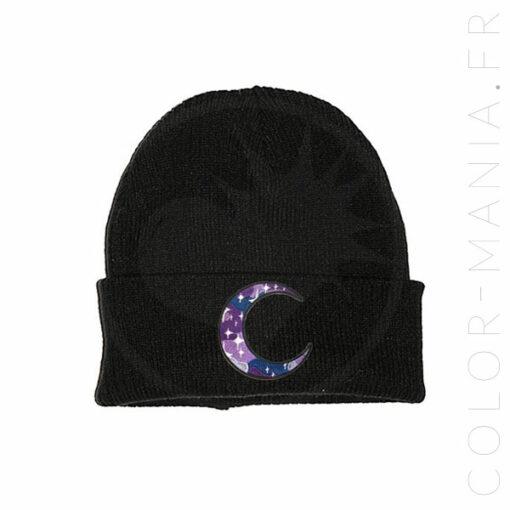 Galactic Dark Purple Beanie Moon | Color-Mania.fr