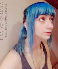 Merci Nina :) Coloration Cheveux Bleu Bella Blue - Herman's Amazing | Color-Mania