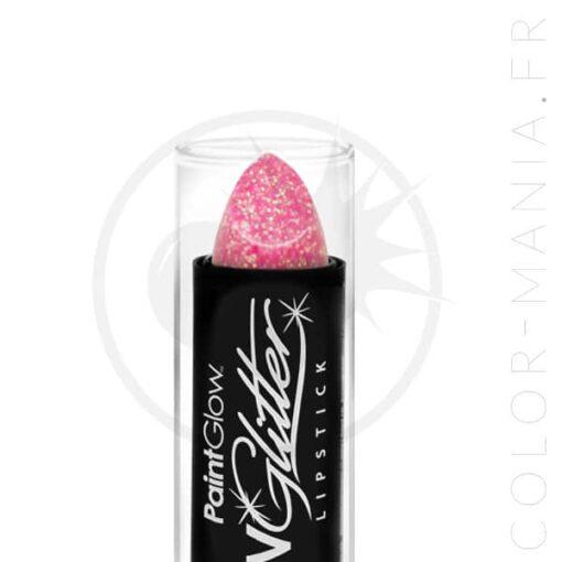 Rouge à Lèvres Paillettes UV Rose Champagne - Paintglow | Color-Mania