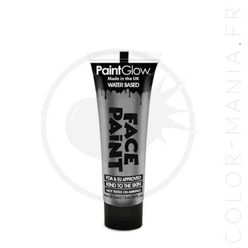 Maquillage Visage Professionnel Argent 13 ml - Paintglow | Color-Mania.fr