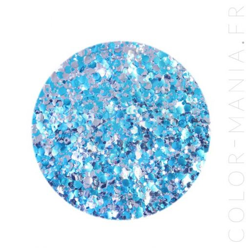 Paillettes Biodégradables Bleu-Argent Electric - Luna | Color-Mania.fr