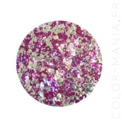 Paillettes Biodégradables Violet-Doré Purpalicious - Luna | Color-Mania.fr