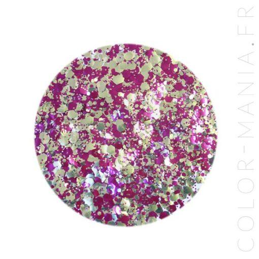 Paillettes Biodégradables Violet-Doré Purpalicious - Luna | Color-Mania.fr