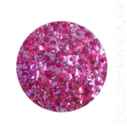 Paillettes Biodégradables Violet-Rose Unicorn - Luna | Color-Mania.fr