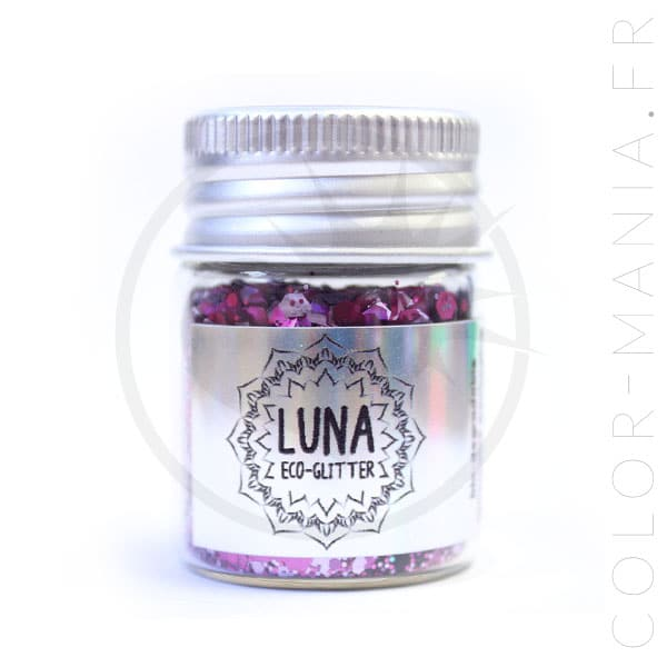 Unicornio Glitter Biodegradable Púrpura-Rosa - Luna | Color-Mania.fr