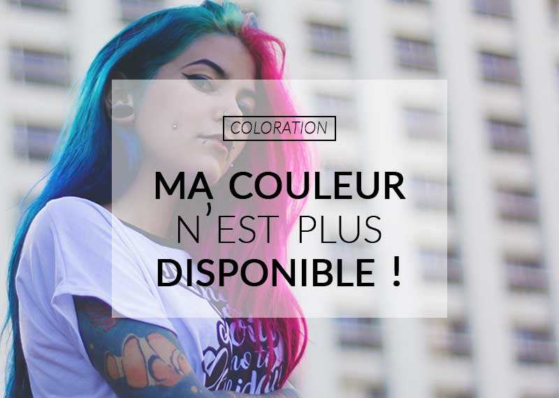 Color-Mania : que faire quand ma couleur n'est plus disponible ?
