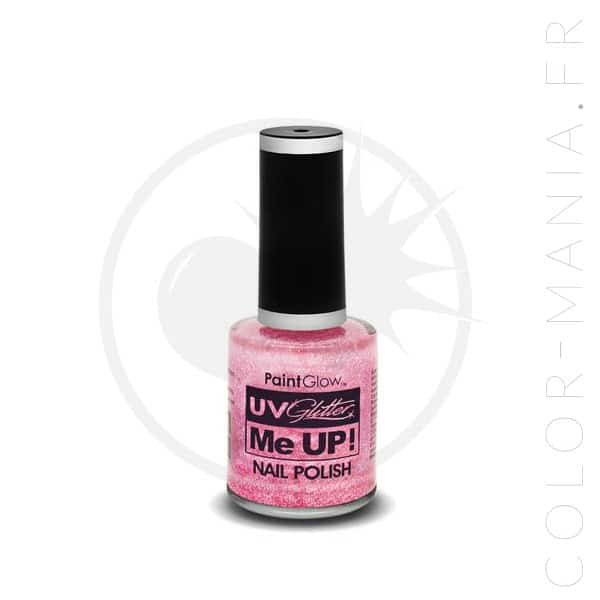 Vernis à Ongles Paillettes UV Rose Candy - Paintglow | Color-Mania.fr