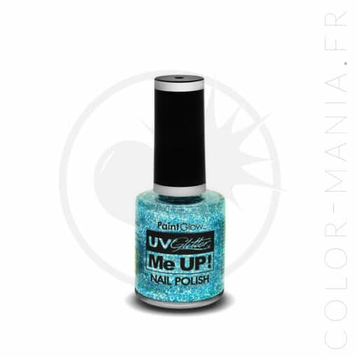 UV Glitter Nail Polish Blue Ice Blue - Paintglow | Color-Mania.fr
