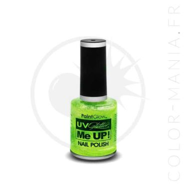 Vernis à Ongles Paillettes UV Vert Mint - Paintglow | Color-Mania.fr