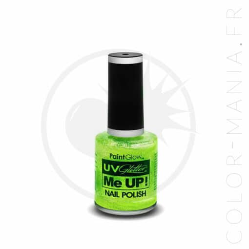 Verde UV Mint Glitter Nail Polish - Paintglow | Color-Mania.fr