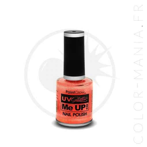 Vernis à Ongles Paillettes UV Peach Paradise - Paintglow | Color-Mania.fr