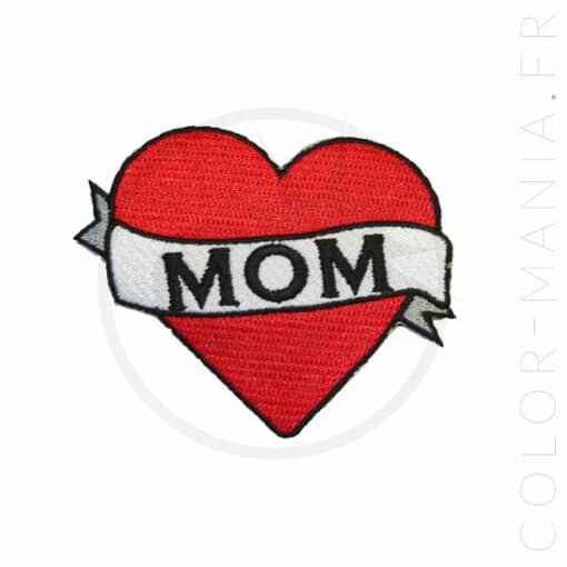 "Patch Tattoo Old School Cœur ""Mom"" 