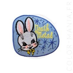 Patch Lapin Kawaï Death Metal | Color-Mania.fr