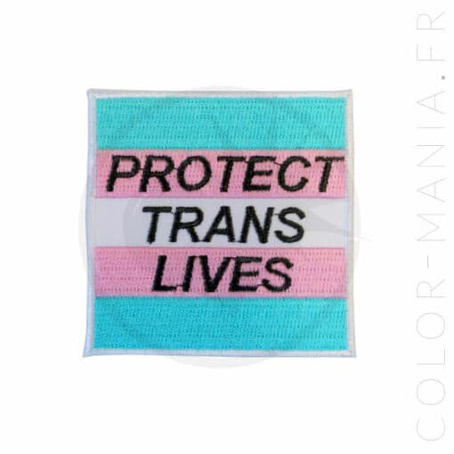 Patch Protect Trans Lives Bleu, Rose et Blanc | Color-Mania.fr