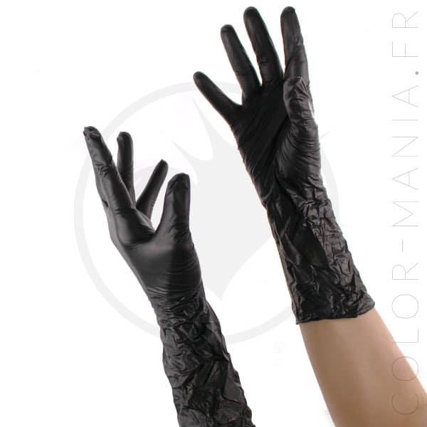 a0d9449169fd6 Gants Noirs Professionnels - Sachet | Color-Mania