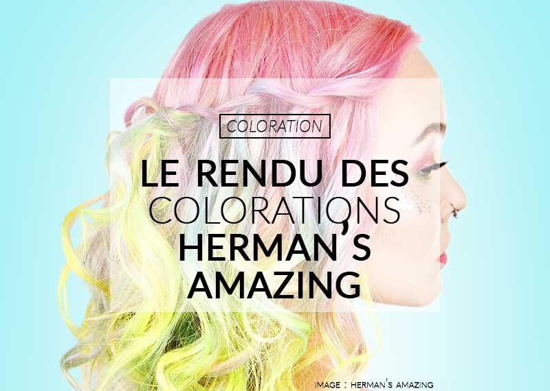 Color-Mania : le rendu des colorations Herman's Amazing