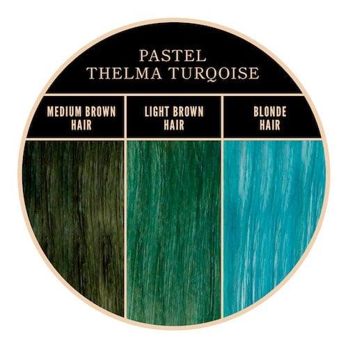 Coloration turquoise Thelma Herman's Amazing chez Color-Mania
