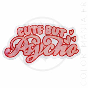 Patch Grand Format Cute But Psycho Rose | Color-Mania.fr