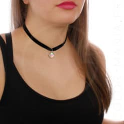 Mermaid Scale Velvet Choker Necklace | Color-Mania.fr