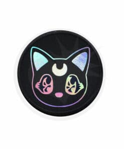 Moon Cat Patch Kawaï Holographic Black | Color-Mania.fr