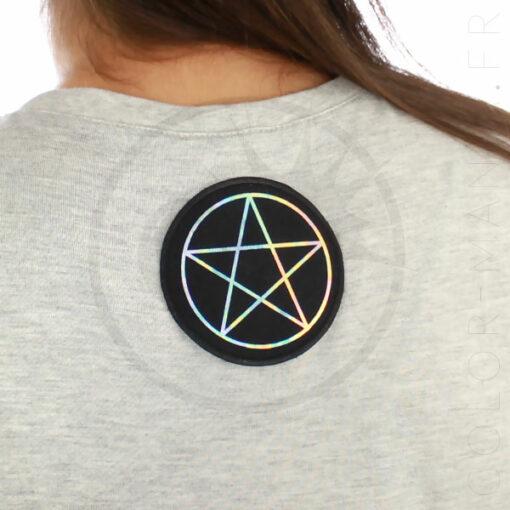 Parche de Pentagram negro y holográfico | Color-Mania.fr