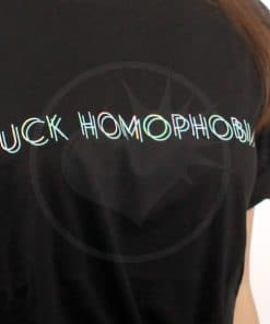 T-shirt Holographic Black Fuck omofobia | Color-Mania.fr