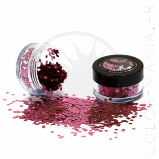 Paillettes Biodégradables Rose Chiffon Rose - PaintGlow | Color-Mania.fr
