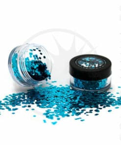 Paillettes Biodégradables Bleues Sea Breeze - PaintGlow | Color-Mania.fr