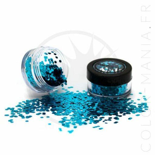 Paillettes Biodégradables Bleues Sea Breeze - PaintGlow | Color-Mania.fr