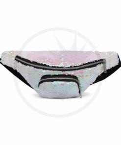 Unicornio de lentejuelas blancas iridiscentes Unicornio | Color-Mania.fr