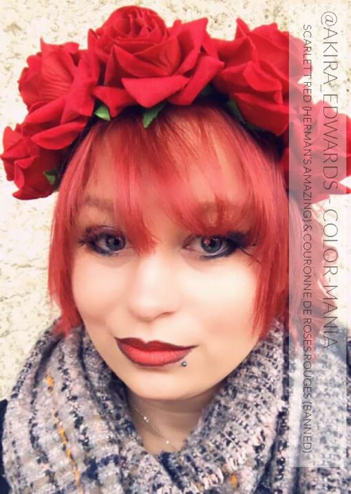 Merci @akira_edward :) Coloration Cheveux Rouge Scarlett Red - Herman's Amazing | Color-Mania