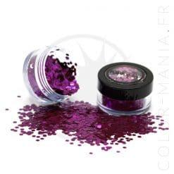 Paillettes Biodégradables Violet Berry Crush - PaintGlow | Color-Mania.fr
