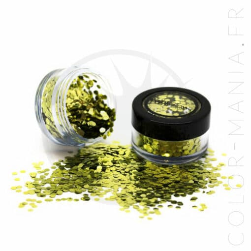 Gold Dust Biodegradable Glitter Gold - PaintGlow | Color-Mania.fr