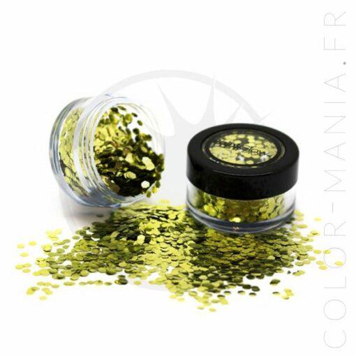 Paillettes Biodégradables Doré Gold Dust - PaintGlow   Color-Mania.fr