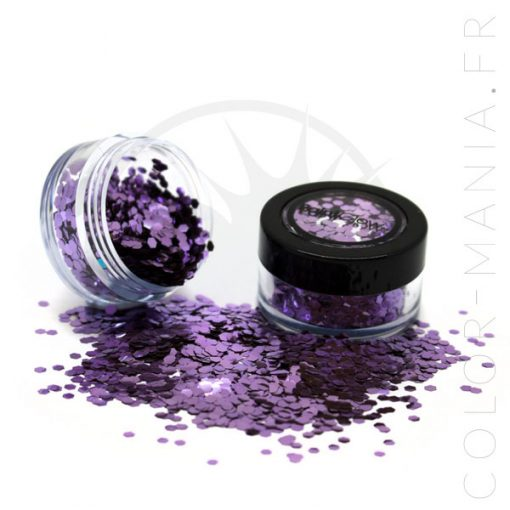 Grosses Paillettes Biodégradables Parma Violet - PaintGlow | Color-Mania.fr