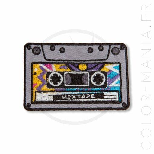 Patch Cassette Audio Mixtape | Color-Mania.fr
