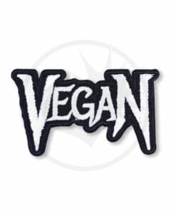 Patch Vegan Metal Black & White | Color-Mania
