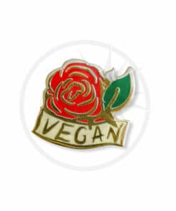 Pin Vegan Rose Red & Gold | Color-Mania