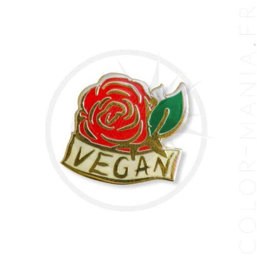 Pin Vegan Rose Red & Gold | Color-Mania
