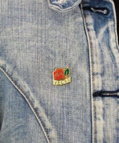 Pin's Vegan Rose Rouge & Doré | Color-Mania