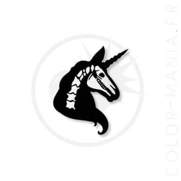 Pin's Noir Squelette Licorne | Color-Mania