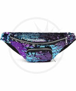 Sac Banane Sequins Bleu-Violet Galaxy | Color-Mania.fr