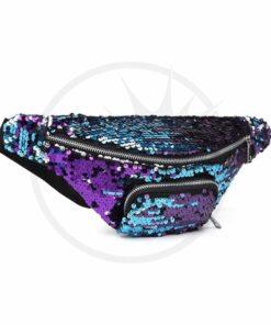 Bolso púrpura de la lentejuela azul-púrpura de la bolsa de mano | Color-Mania