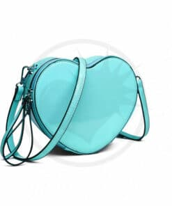 Borsa in vinile cuore blu | Color-Mania.fr