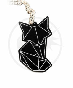 Collana Fox Origami Nero | Color-Mania.fr