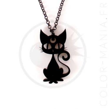 Collier Chat Noir Luna   Color-Mania