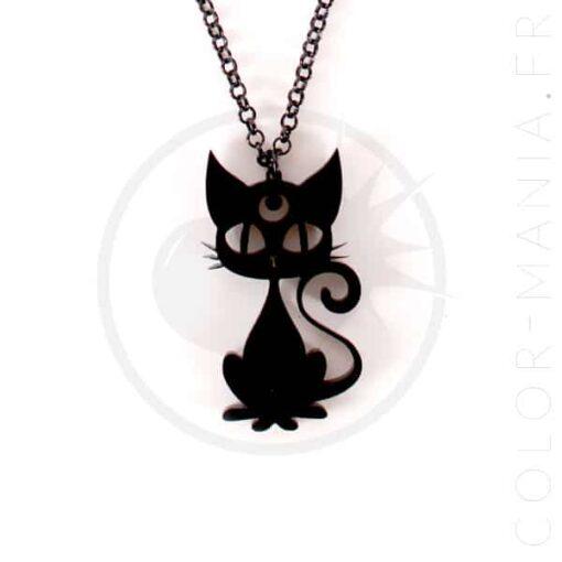 Cuello Luna Gato Negro | Color-Mania